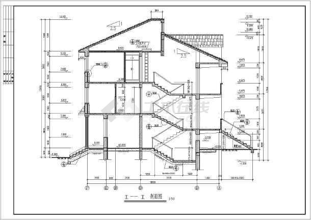某地三层砖混结构新农村住宅建筑设计施工图杨寨学室内六合无绝对片