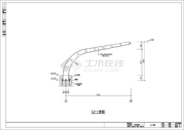 某地区玩偶停车棚钢结构设计施工图纸_cad图大白图纸汽车图片