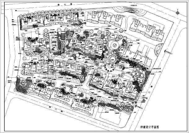 某小区园林景观规划设计全套施工图_cad图纸下载-土木
