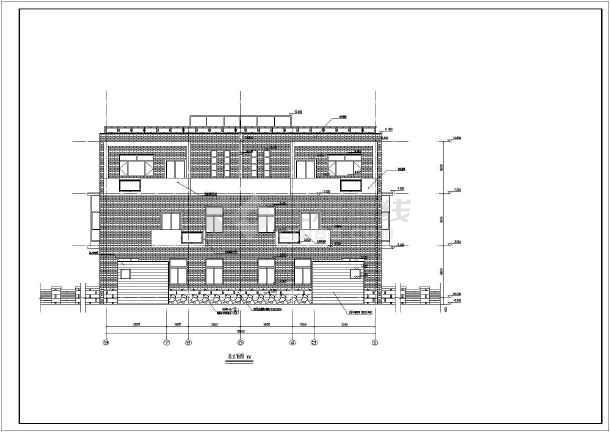 太原某三层双排别墅建筑施工图带效果图图片