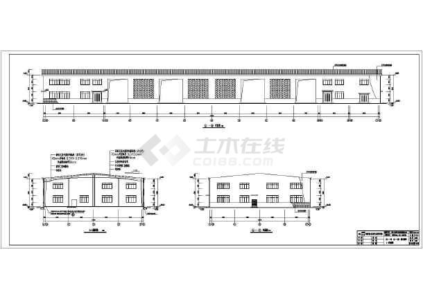 某公司单层门式钢架结构厂房建筑设计施工图