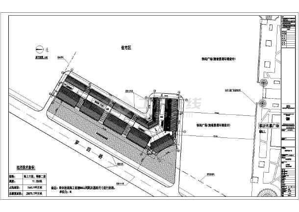 某三层框架结构商业步行街建筑设计施工图(坡屋顶)