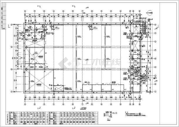 某门式钢架结构形式的建筑专业设计图纸