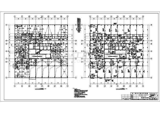 某框架核心筒结构酒店结构施工图设计