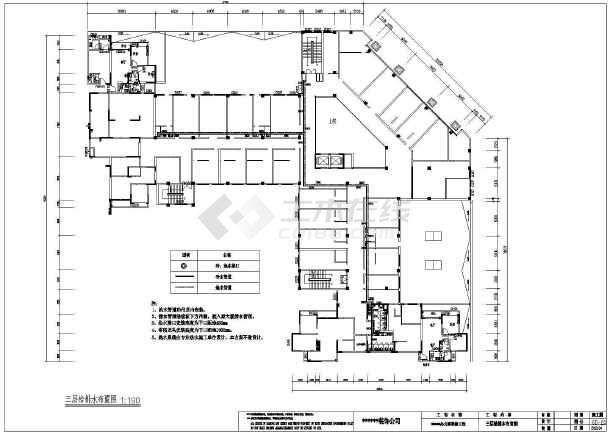 某办公楼全套装修图纸(含水电,立面,剖面)