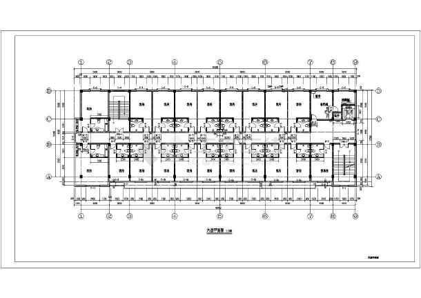 北方某地6层框架结构宾馆建筑设计方案图纸