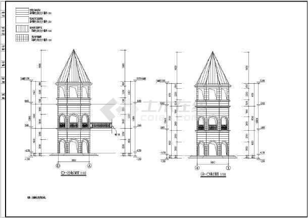 北方某地区二层欧式商业楼建筑设计施工图图片