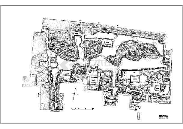 江南园林之苏州拙政园平面布局图CAD