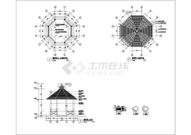 苏州聆湖丽墅景观设计八角亭建筑设计图