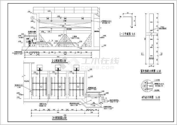 图纸 给排水图纸 污水处理图 水处理工程构筑物及设备 10000m3/d机械