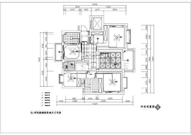某地现代中式家装130平方意思平面设计图纸中图纸la_风格什么图片