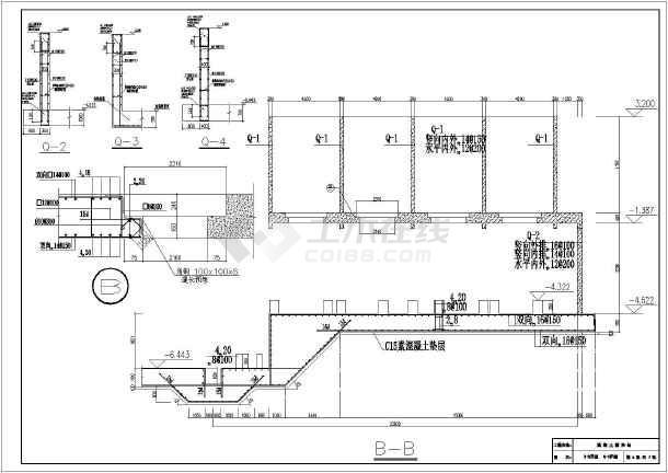 混凝土搅拌站图纸基础施工图_cad视频入门cad土建下载快速图片