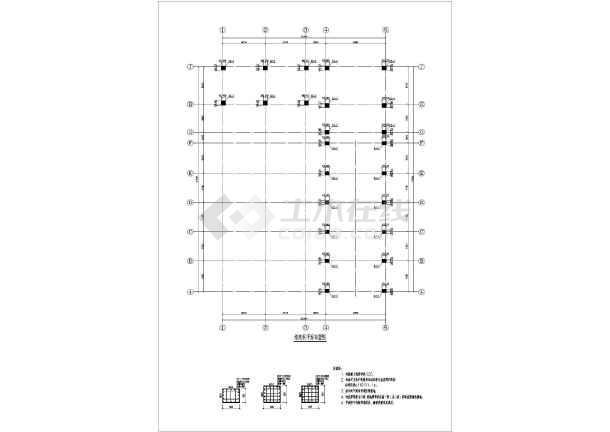 图纸 建筑结构图 钢结构图纸 钢框架结构 【湖南】某大型排涝泵站房屋