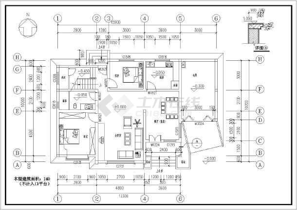 某农村两层小型别墅建筑设计施工图
