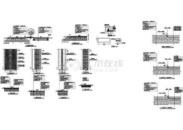 常用园路结构图