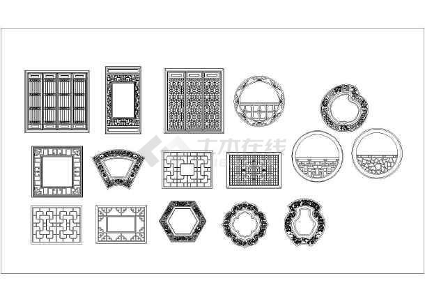 中国传统古建筑元素之门窗设计施工图