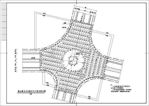 某地区道路交叉口竖向设计图(含说明)图片
