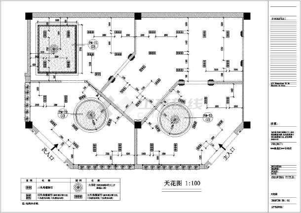 某地区材料专卖店装修设计专业(含家具说明)潮州室内设计图纸技校图片