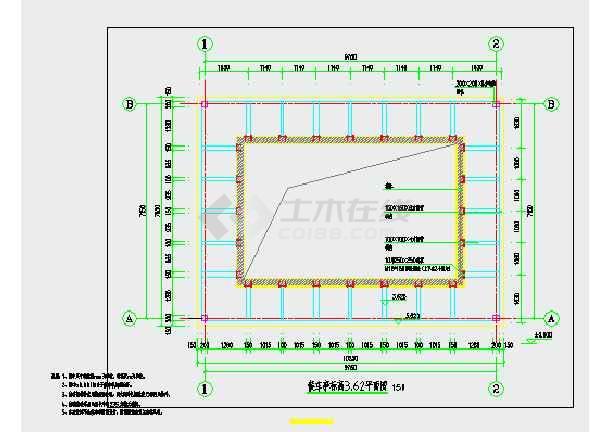 某钢结构中式候车亭建筑图纸变频器台达图纸微盘图片