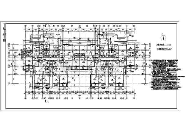某地框架结构18层塔式住宅建筑施工图图片