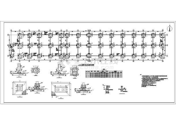 1d5一sz1直线塔板式基础图