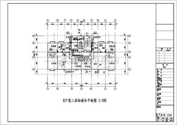 某地高层住宅楼建筑给排水设计施工图