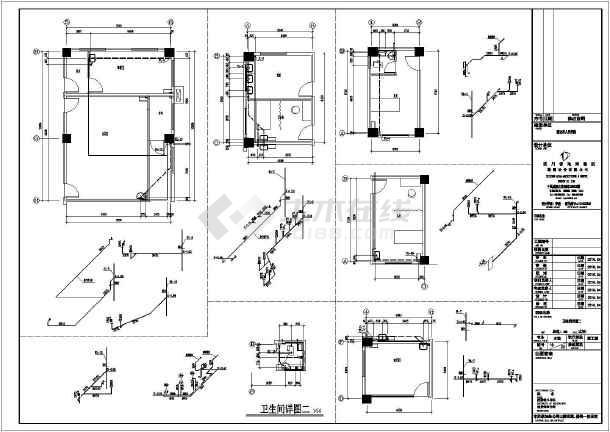 某六层多层医院建筑给排水施工图设计