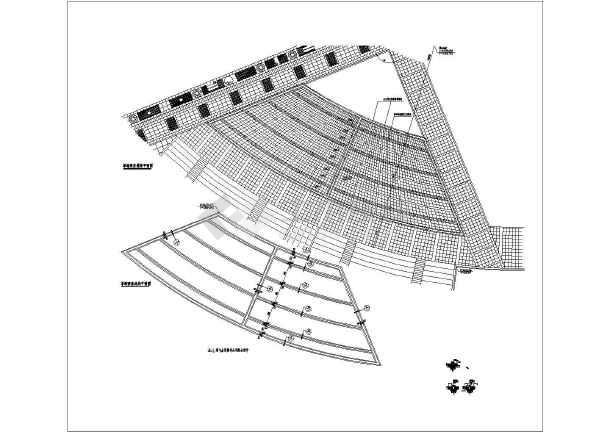 四套旱池喷泉的详细景观设计施工图纸