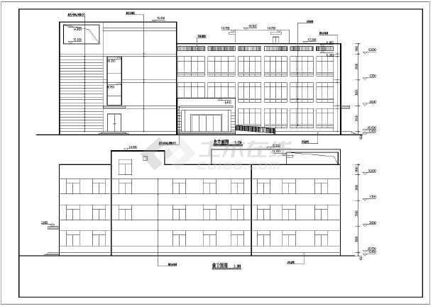 某地3层框架结构社区卫生服务中心建筑设计方案图