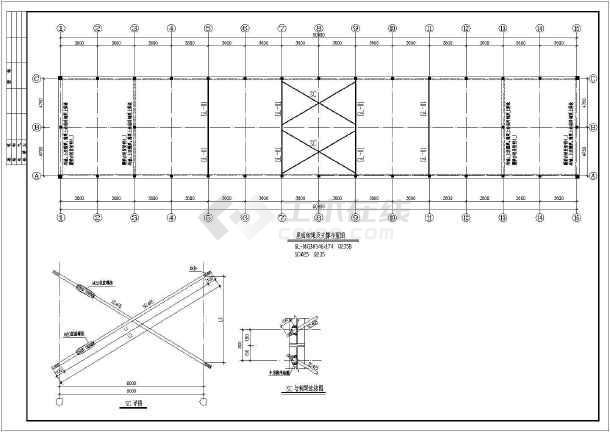 玛纳斯县单层砖混结构厂房结构施工图
