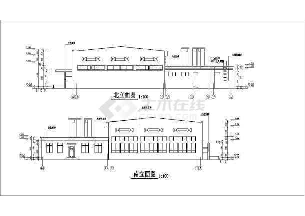 为某地单层框架结构学生餐厅建筑方案设计图,图纸内容包含:各层平面图