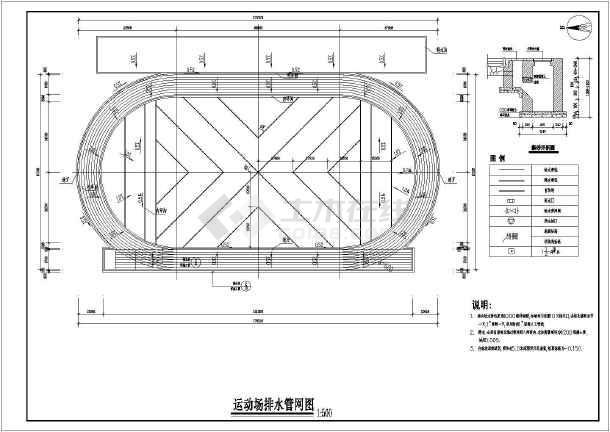 某地学校400米田径运动场建筑施工图纸