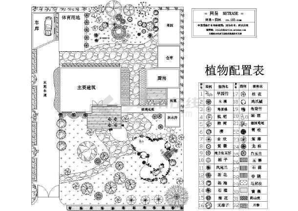 别墅植物种植平面图