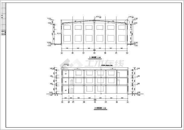 某地区单层排架结构厂房建筑施工图