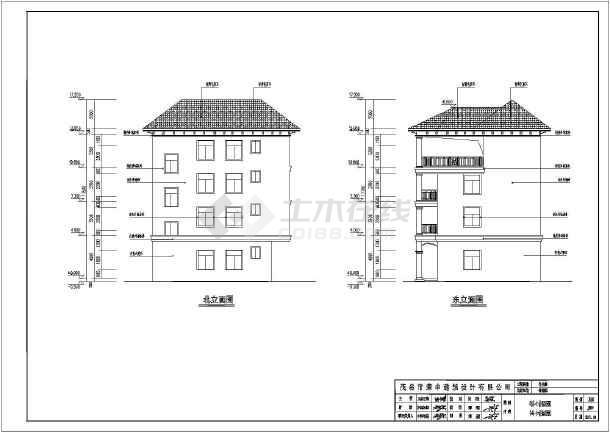 某地自建三层三室两厅别墅建筑设计方案图