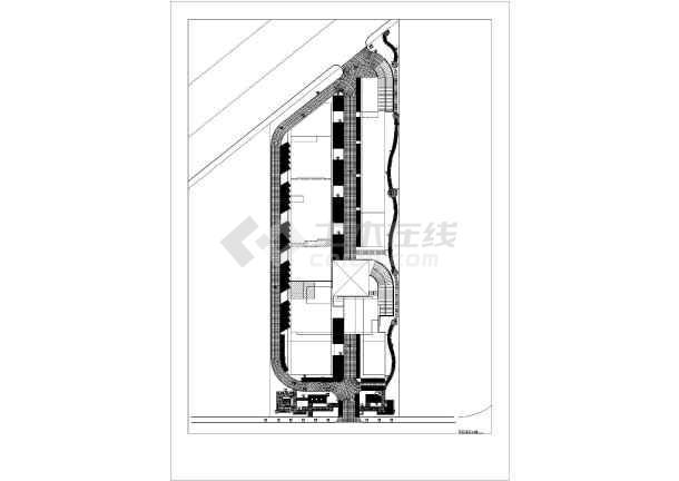 某地区一商业广场地面没有方案设计图_cad图为何在cadv商业铺装显示文字图片