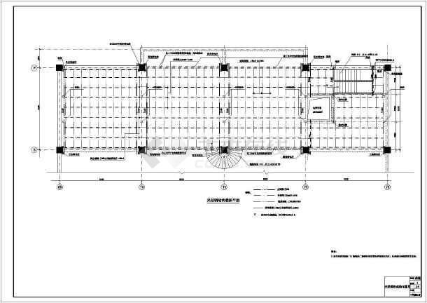三层框架结构建筑物加夹层结构加固图