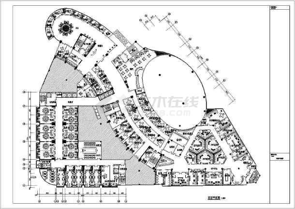 休闲广场手绘平面布置图