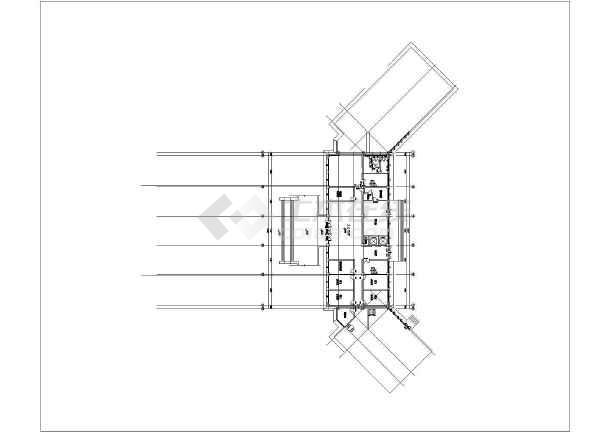 某地7层框架结构办公楼建筑方案图(初步设计)-图四图片