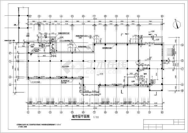 大学学生宿舍楼建筑设计图