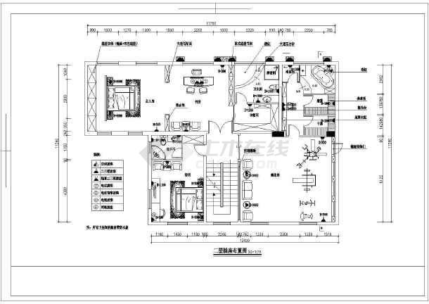 图纸 装修设计 家装设计 其他室内装修 普通住宅室内装修水电图  普通
