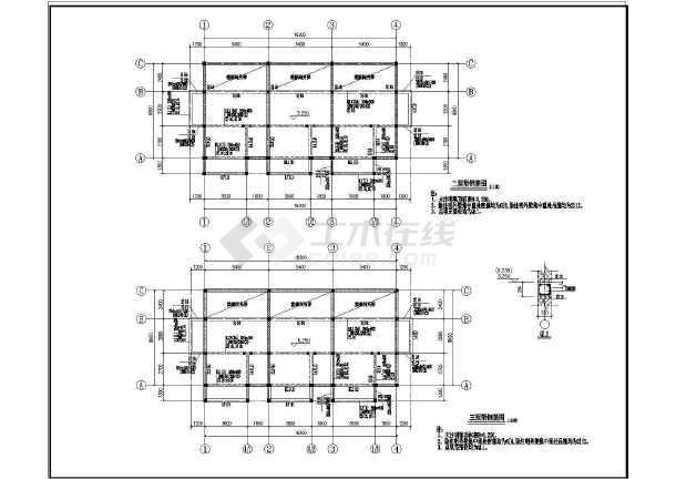 结构图纸图纸建解说结施图_cad榫卯下载砌体多层施与图片