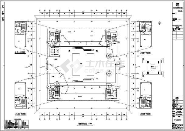 公共建筑 其他公共建筑电气设计施工图 【四川】某地大型城市展览馆