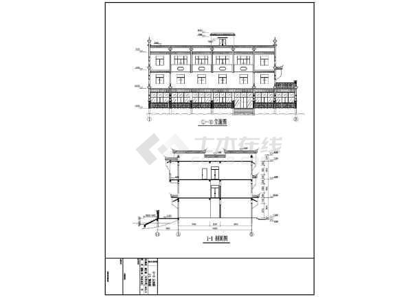 两套仿古建筑图纸墙全套带徽州图集图纸_cadcadv图纸马头施工图地方图片