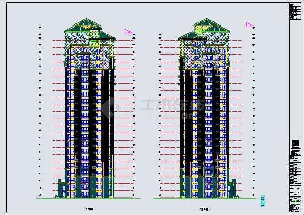 剪力墙结构居民建筑蓝图