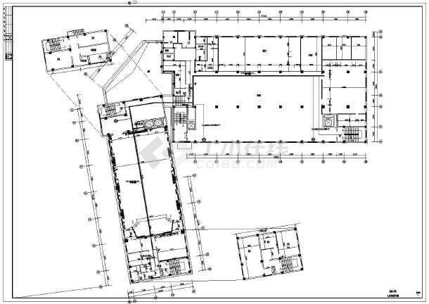 消防电气施工图)  某地多层办公楼综合布线及安防