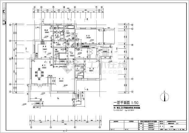 二层中式别墅建筑施工图,含效果图-图2