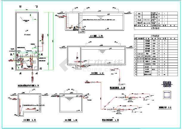 200立方消防图纸及消防详图泵房_cad水池下载cadv图纸出错图片