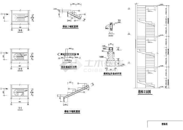 [旋转楼梯设计]某地区180度的旋转楼梯设计方案图 -