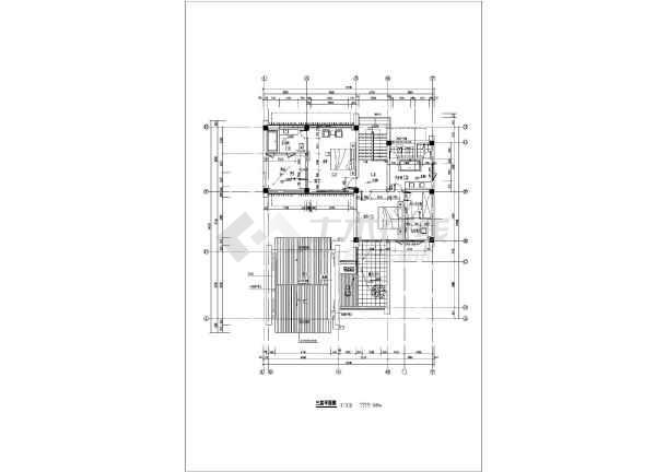带双车库,小院豪华三层别墅平面建筑设计图图片